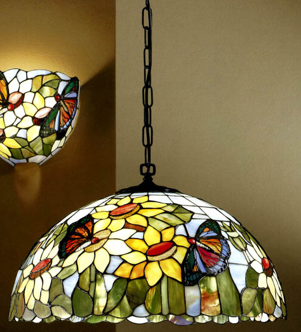 T530S SUSPENSION IN TIFFANY GLASS DIAMETER 45 Suspended Tiffany lamps