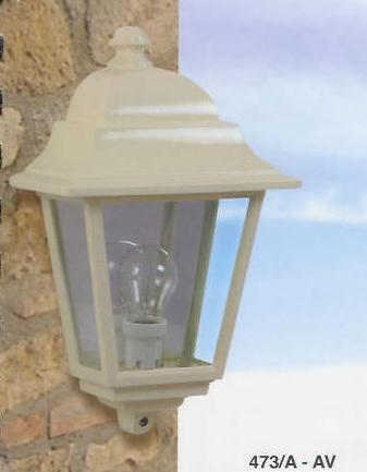473 HALF LANTERN COLOR IVORY Classical exterior wall lighting