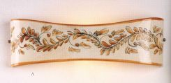 APPLIQUE TERRACOTTA DECORATO Lampade rustiche a parete